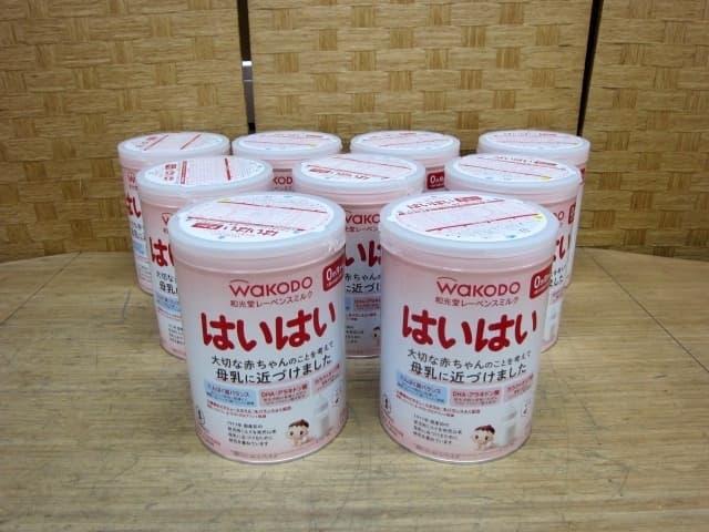 岐阜県より 和光堂 粉ミルク はいはい 810g 9缶 を宅配買取しました