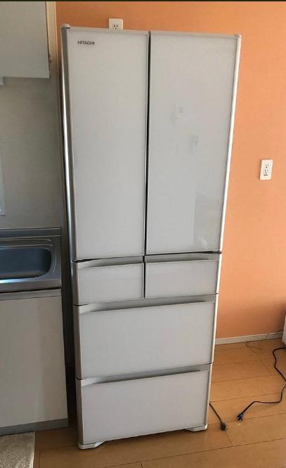 綾瀬市にて 冷蔵庫 日立 R-XG43K 2019年製 を出張買取致しました