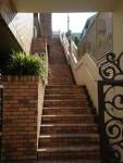 搬出した階段