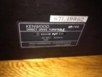 KENWOOD 型式 ターンテーブル