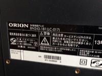 オリオン 液晶テレビ 品番