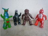 ブルマァク バンダイ 復刻版怪獣 4体