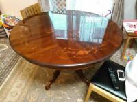 イタリア 象嵌円形テーブル 買取