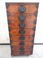 美品 高級 岩谷堂箪笥 和箪笥 漆塗り 7段 伝統工芸