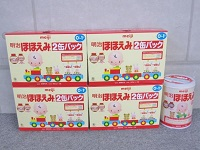 東京都世田谷区で粉ミルク[明治 ほほえみ 9缶]を買取ました。