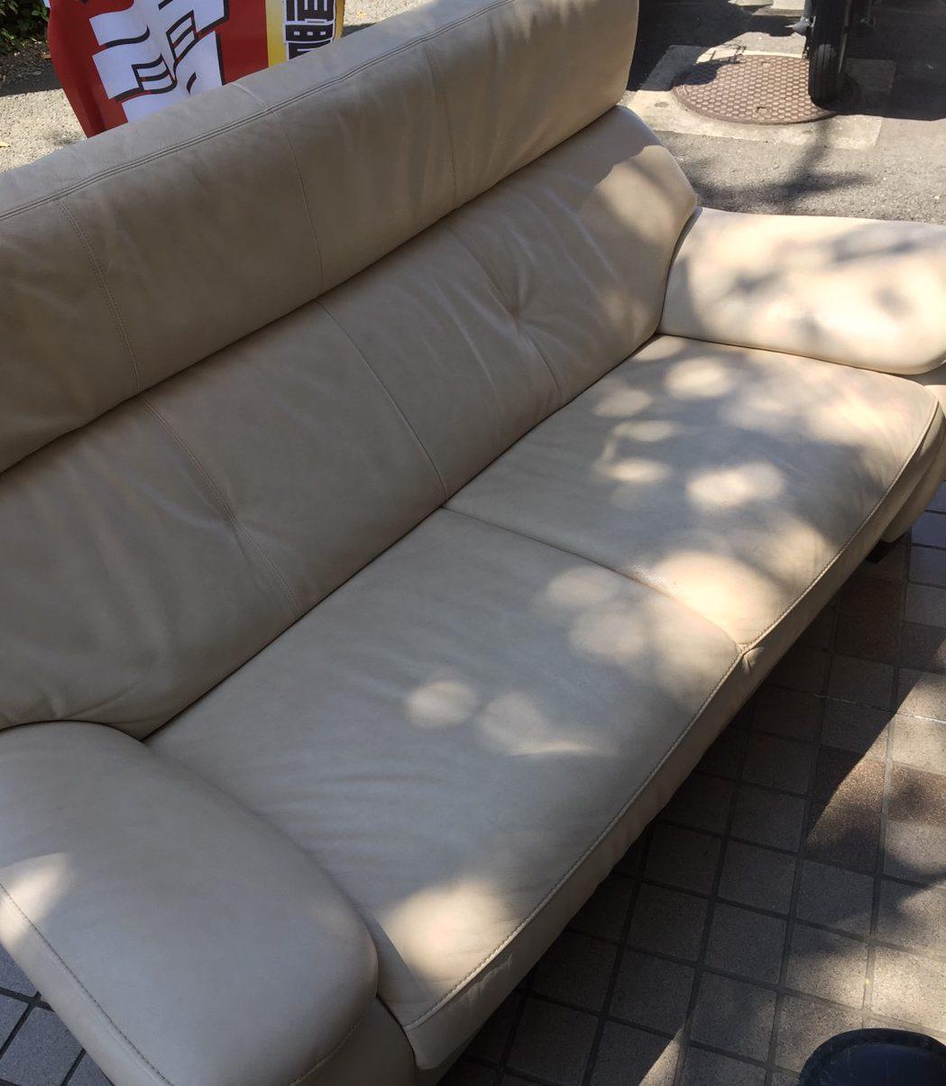 八王子市にてカリモクchitanoシリーズ ソファを買取いたしました。