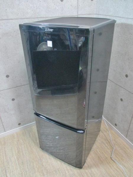 三菱製 冷凍冷蔵庫 [MR-P15EZ] ブラック 2016年製
