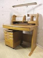 世田谷区にて学習机【浜本工芸 楢材 デスク+ワゴン】を買取致しました。