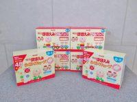 八王子店にて明治 ほほえみ 800g×2缶パック×4箱 らくらくキューブ 48袋×2箱を買取しました。