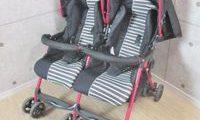 日本育児 TWIN HEART ツインハート 軽量二人乗りベビーカー