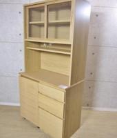 無印 オーク材 レンジボード カップボード 食器棚