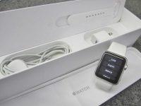 Apple watch sport 38mm ホワイトスポーツバンド MJ2T2JA