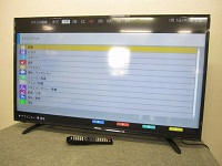 武蔵野市にて ハイセンス 43型 ハイビジョンLED液晶テレビ HJ43K3121 2017年製 を出張買取致しました