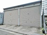 中央区にて イナバ物置 シャッターガレージ 車庫 GHN-190HL 2000年製を出張買取致しました