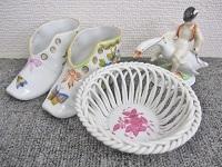 渋谷区にて ヘレンド 陶器置物 シューズ カゴ を買取ました