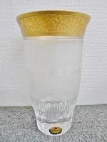 世田谷_出張買取_モーゼル 花瓶 ボヘミアガラス