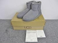 UGG ムートンブーツ CLASSIC MINI グレー サイズUS6 23.0cm