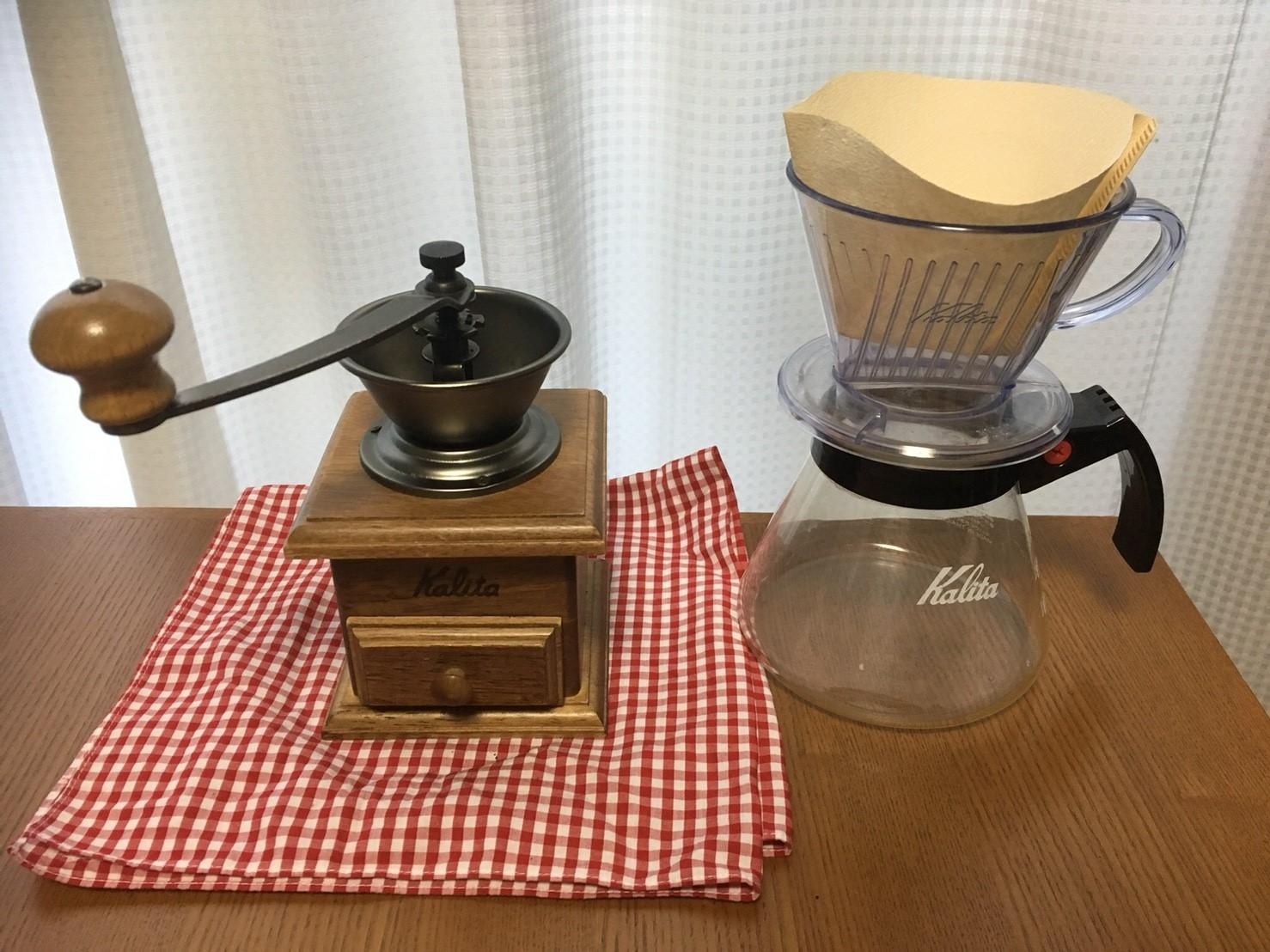 「コーヒーミル」と「魔法瓶」でコーヒーを持参する