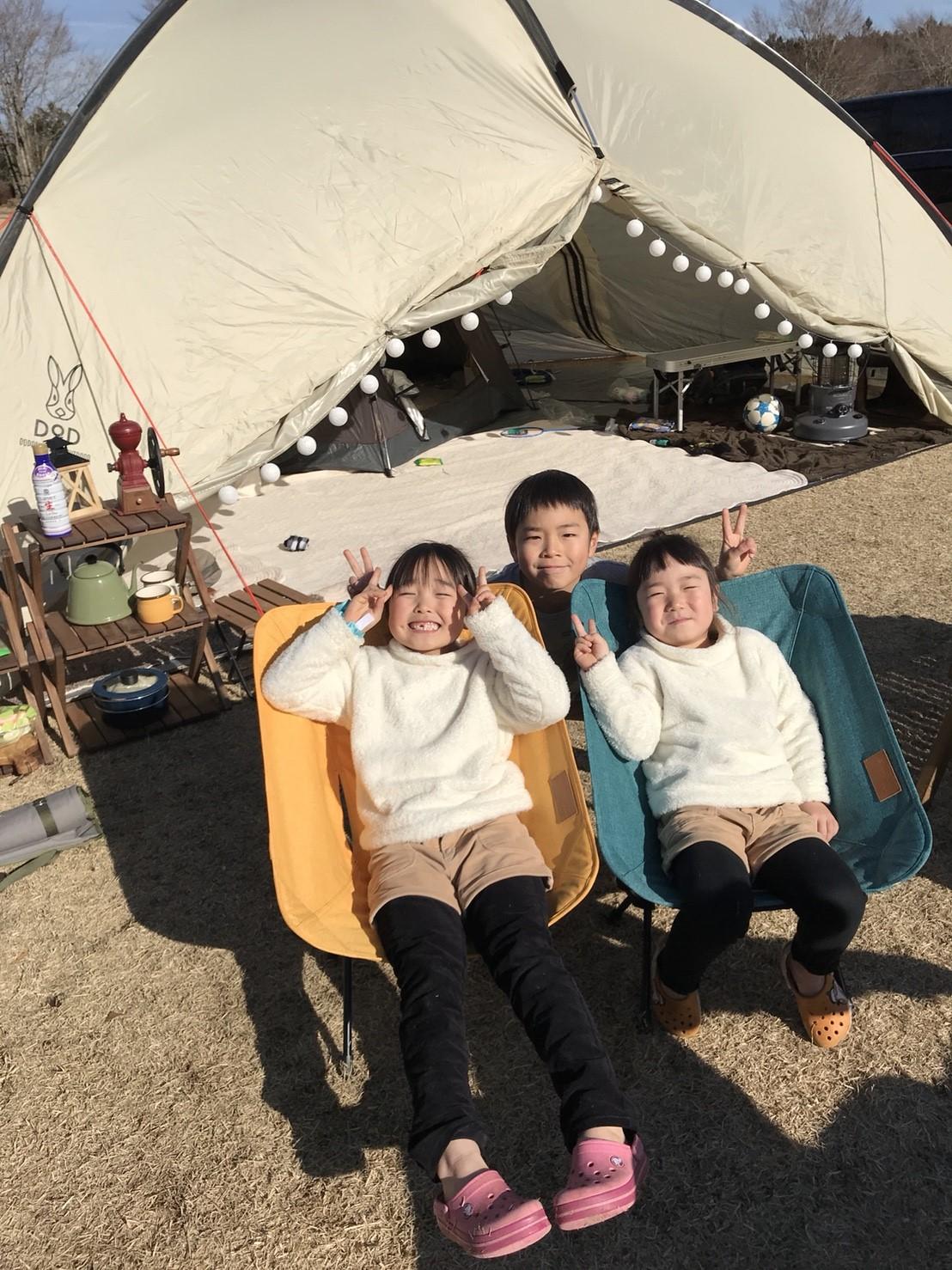 キャンプ場 子供たち