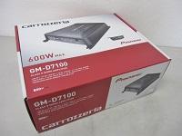 カロッツェリア GM-D7100 600W×1ch モノラル