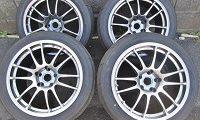 インプレッサ着用 ENKEI GTC01 アルミ Sタイヤ ADVAN A050