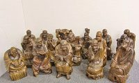 十六羅漢像 阿羅漢 16体セット 木彫り 仏教 仏像