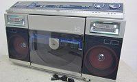 シャープ ラジカセ デュアルプレイディスク タテ型レコードプレイヤー VZ-V2