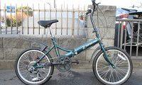 キャプテンスタッグ 折り畳み自転車 グリーン