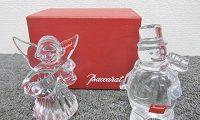 バカラ フィギュリン 天使 スノーマン 置物 クリスタルガラス