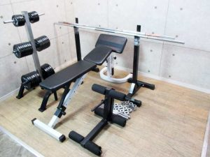 ファイティングロード 筋トレ器具まとめ ダンベル トレーニングベンチ バー