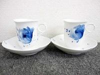 Meissen マイセン 青い花 カップ&ソーサー