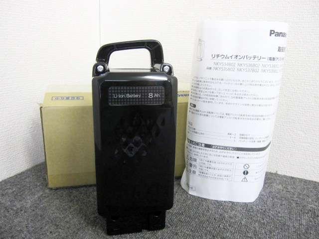 未使用 パナソニック 8Ah 電動アシスト自転車用 リチウムイオンバッテリー NKY534B02 黒
