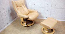 エコーネス 本革 ストレスレスチェア ウィング 1P リクライニングソファ