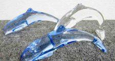 Baccarat バカラ イルカ 3点セットドルフィン クリスタルガラス 破損あり