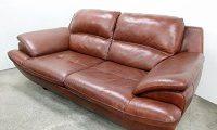 ムラウチ家具 総本革 2P ソファ EN2 1235 BR