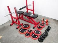 F.R.JAPAN トレーニングベンチ シャフト プレートセット 計105kg