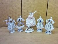 シッツェンドルフ バレリーナ 5体セット ドイツ 陶器人形 置物