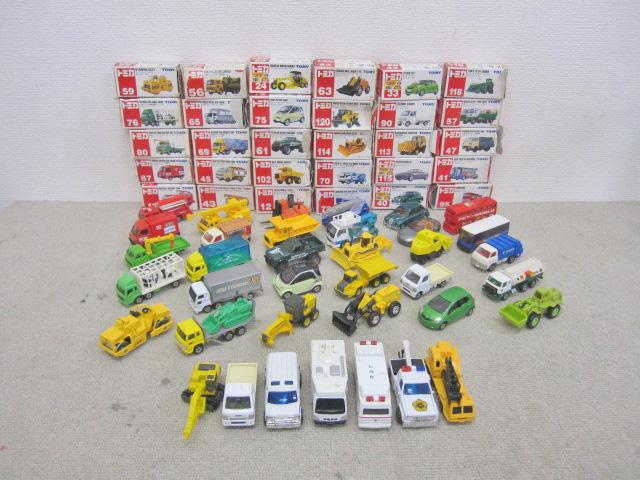 小平市にて トミカ ミニカー 建設車両等 まとめ37台 セット を出張買取しました