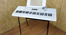 カシオ 61鍵盤 光ナビゲーション 電子キーボード LK-223 譜面台 マイクセット