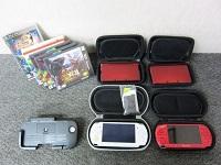 ゲーム機 ソフトまとめ ニンテンドー 3DS 2点 SONY PSP 2点 ソフト付き レッド