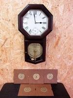 ESTAR ディスクオルゴール リズム時計 掛け時計 4ZH612AZ PM-DH2