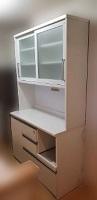 レンジボード 食器棚 ホワイト H2000 W1200