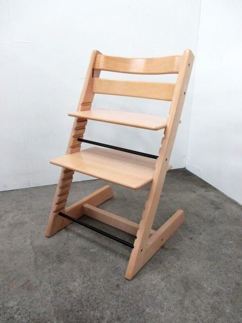 ストッケ トリップトラップ ナチュラル 子供椅子 ベビーチェア 高さ調節椅子