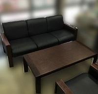 日野市にて マルニ 応接セット 3P 1Pソファ テーブル を買取ました