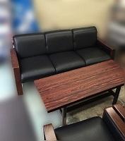 日野市にて マルニ 応接セット 3Pソファ 1Pソファ を買取ました