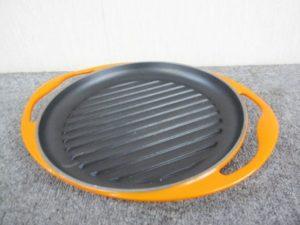 ルクルーゼ グリル・ロンド 鉄板プレート 25.5cm オレンジ