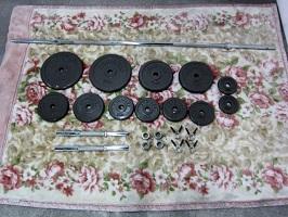東村山市にて ヘラクレス ダンベル バーベル 計60kg を出張買取しました