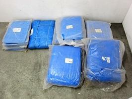 ブルーシート 合計23枚セット 軽量 2間×3間 5.4m×7.2m 10m×10m