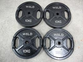 WILD FIT 黒 ラバープレート 10kg×4