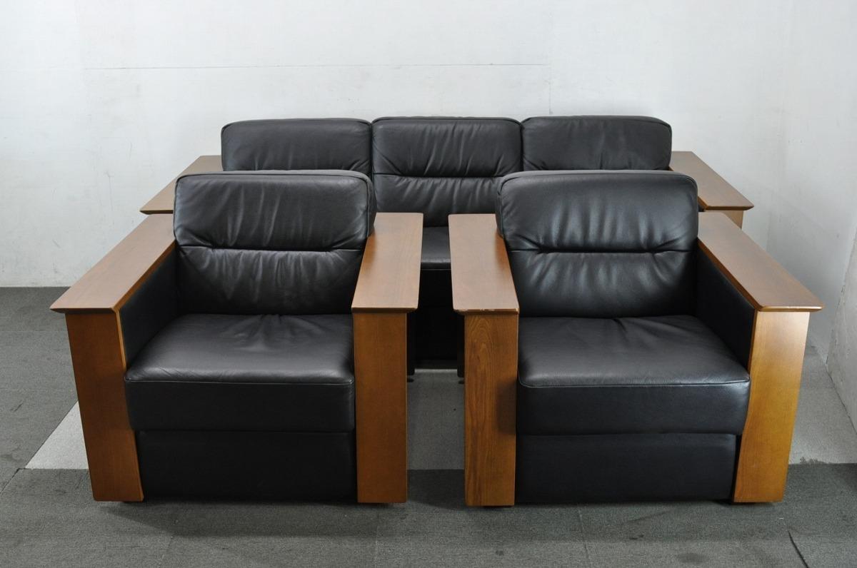 藤沢市にて冨士ファニチア 応接家具 ソファセット を出張買取しました